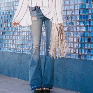 American Eagle Boho Artist Distressed Flare Jeans